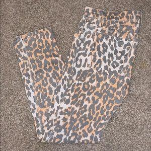 joes skinny ankle cheetah print pants